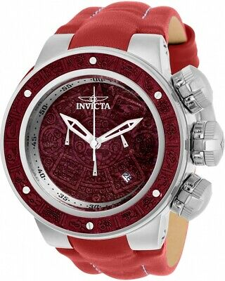 Invicta 28238 Subaqua Men's 52mm Chronograph Stainless Steel Red Wood Dial Watch
