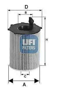 2512800 UFI Oil Filter Oil Cartridge Replaces 55224598,