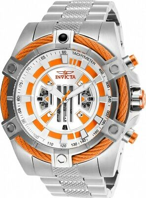Invicta 27226 Star Wars Men's 52mm Chronograph Stainless Steel Silver Dial Watch