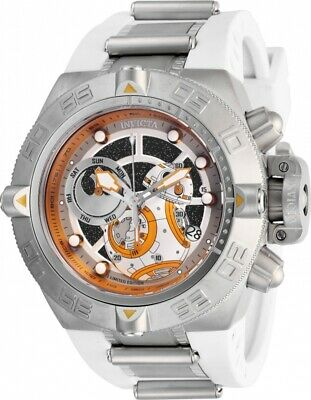 Invicta 26215 Star Wars Men's 50mm Chronograph Stainless Steel White/Orang Watch
