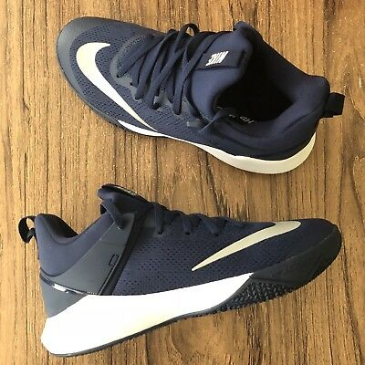 f33d8c8d7f38 A759 Nike Zoom Shift TB 897811-401 Navy Basketball Shoes Size 10.5 NEW