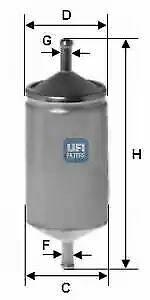 3150100 UFI Fuel Filter Petrol Replaces 5984093,71736102,7612972,7680997