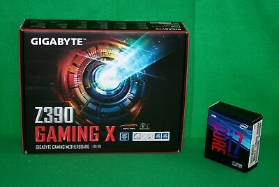 Intel i7-9700K 3.6GHz x8 Core + Gigabyte Z390 Gaming X MOTHERBOARD COMBO