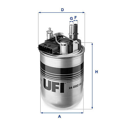 2408000 UFI Fuel Filter Diesel Replaces 16400-1KB2B,NF-2479,G190,MA072,EFF325D