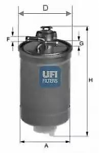2400300 UFI Fuel Filter Diesel