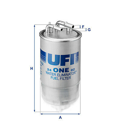 24ONE02 UFI Fuel Filter Diesel Replaces 813059,