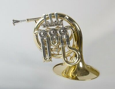 TEMPEST AGILITY WINDS Bb MINI POCKET FRENCH HORN 3 ROTARY VALVES ENGRAVED