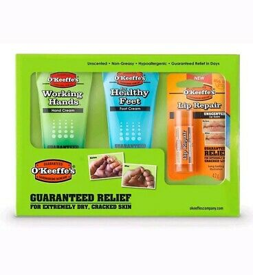O'Keeffe's Skincare Working Hands, Healthy Feet and Lip Repair, Tube Multipack