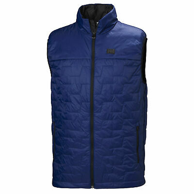a9ff88434 HELLY HANSEN MENS Lifaloft Hybrid Insulator Jacket Top Black Blue ...