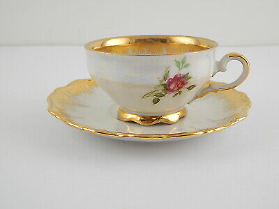 Antica Tazza E Piattino Porcellana Bavaria Seltmann Theresia Decoro Oro Zecchino