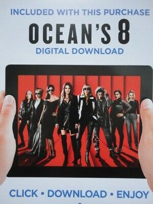 Ocean's 8 Eight Digital UV Ultraviolet Flixster Download Code Sandra Bullock