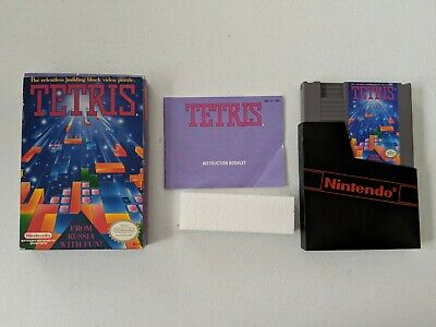 Tetris NES Game Complete in Box w/ Manual Nintendo Entertainment System