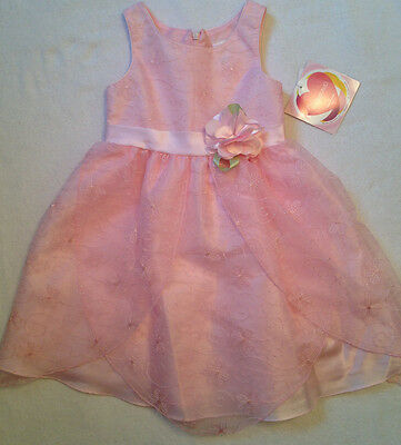fe0d38f5a64 Girls Youngland Sleeveless Pink Tulle Dress Flower Size 5 - NWT