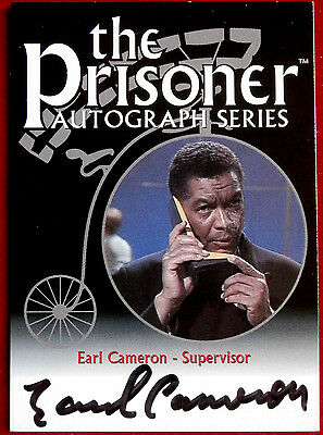 THE PRISONER Volume 1 - EARL CAMERON (CBE) - Autograph Card Cards Inc 2002 PA5