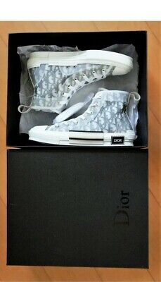 Dior X Kim Jones B23 Sneakers High Tops Size Uk 6 New Unisex Oblique 1d9547a79