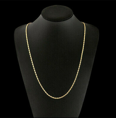 Womens Ladies Curb Necklace Chain Pendant Gold Colour Jewellery Men Wedding Gift