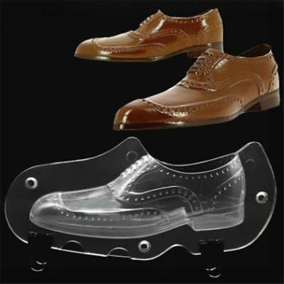 3D Men Shoes Shape Plastic Chocolate Mold Polycarbonate Jelly Candy Ice Mould G