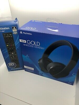 Sony PlayStation Gold Wireless Headset 7.1 Surround Sound PS4 New 2018 Version