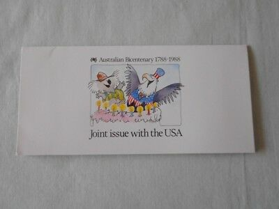 Australian Bicentenary 1788-1988 Stamps - Joint Issue with the USA in folder