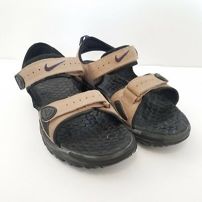 buy online f9ada 6f879 Nike Air ACG Men s Sz 10 Brown Leather Sandals Water Shoes Hiking