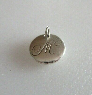 5f16902f7 Tiffany & Co Sterling Silver Tiffany Notes Letter M Charm Pendant