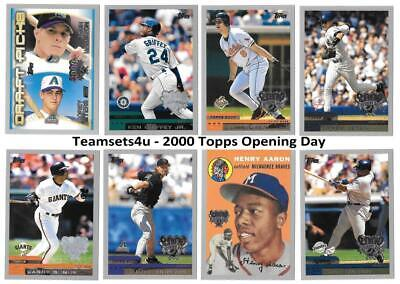 2000 Topps Opening Day Baseball Set ** Pick Team ** See Checklist in Description