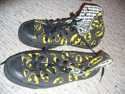 huge discount ed014 1bdff DC Comics Batman Converse All Star Hi Top Shoes Mens 6.5 w  Box -