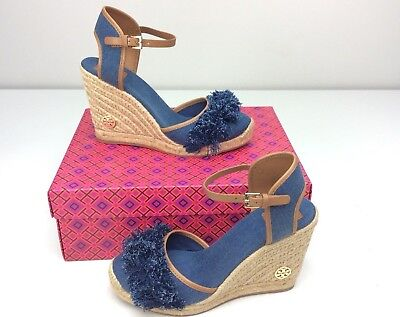 7ba115f3728 NIB TORY BURCH Shaw 90 MM Striped Wedge Espadrilles Size 8 - $135.00 ...