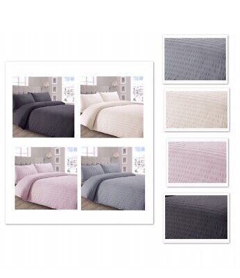 Seersucker Duvet Cover With Pillow Case Quilt Cover Bedding Set All Size's
