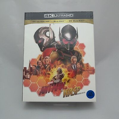 Ant-Man And The Wasp (2018, Blu-ray 2D + 3D + 4K UHD) Full Slip Case Steelbook