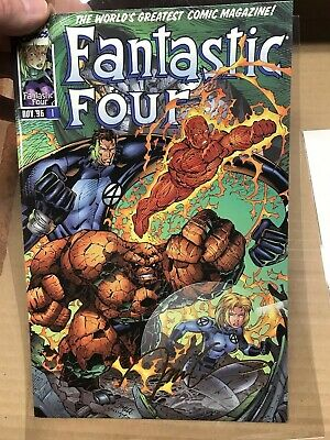 """Fantastic Four #1 (1996) Marvel """"Heroes Reborn"""" Gold Signature Limited Edition"""