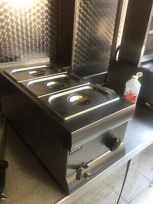 Lincat Wet Heat Bain Marie Food Warmer With 3 x Pans & Lids. Very good condition