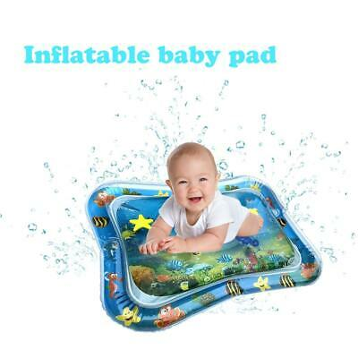 Inflatable Water Play Mat Infants Baby Kid Fun Tummy Time Play Activity Game Toy
