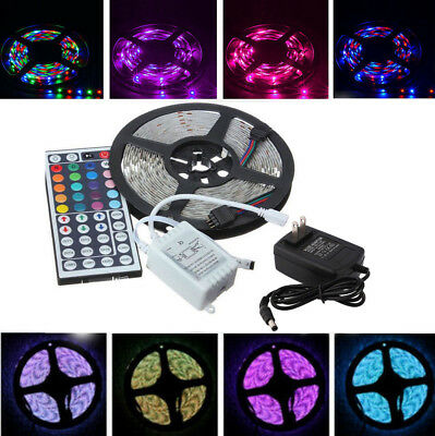 5M RGB 5050 Waterproof 300 LED Strip light SMD 44 Key Remote 12V Power Night bul