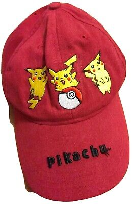 bc5fbdcd212 Vintage 90s Pikachu Red Hat Pokémon Pocket Monster Rare Old Retro Baseball  Cap
