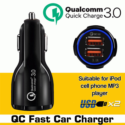 5V Quick Charge 3.0 In Car Charger 2 Ports USB Qualcomm QC Fast Charging Adapter
