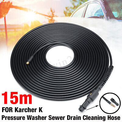 15M High Pressure Washer Drain Sewer Hose Jet Nozzle For LAVOR VAX TO Karcher K
