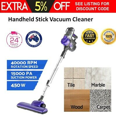 Handheld Stick Vacuum Cleaner Bagless Vaccum Handstick Vac Upright 450w Floor