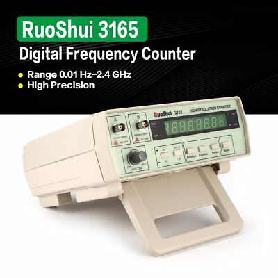 RuoShui 3165 Digital Precision Radio Frequency Counter Testing Meter 0.01 2.4 AF