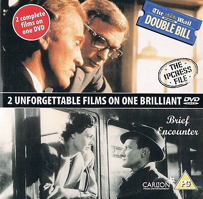 The Ipcress File & Brief Encounter -  2 DVD Film N/P