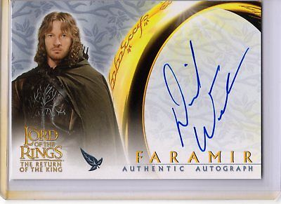 Lord of the Rings Return King Autograph Card David Wenham as Faramir Topps GPC