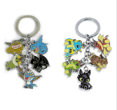 How To Train Your Dragon 2 Toothless Night Fury Keychain Keyring Cute Gift