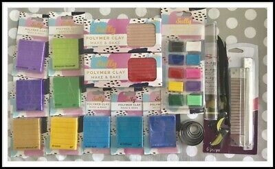 Polymer Clay Set 16 Piece - New/Never Used - Sculpey, Premo, Sully Brand RRP$157