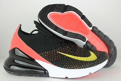 370d41a5e6 NIKE AIR MAX 270 Flyknit Shoes-Black/Yellow/Crimson/White-Women's 8 ...