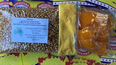 Genuine Cinema Popcorn Bulk Pack! Makes  100 bags of Cinema Popcorn, Oil & Salt