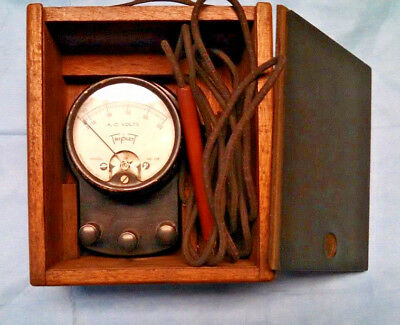 Vintage Triplett AC Volt Meter Model 335 with box Made in USA
