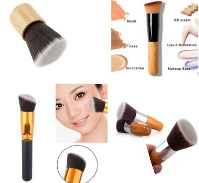 Cosmetic Angled Flat Top Brush Face Makeup Foundation Blusher Powder Tool MD