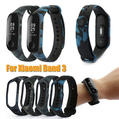 Camouflage Silicone Bracelet Strap Replacement Watchband For Xiaomi Mi Band 3