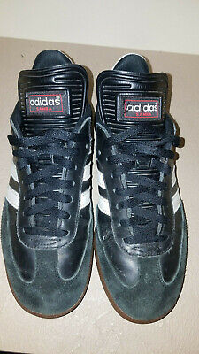 ADIDAS SAMBA MILLENNIUM Men s Indoor Soccer Shoes Black Leather Size ... b6dd52f04