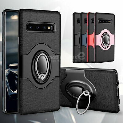 For Samsung Galaxy S10+ S10 Plus Case Ring Holder Shockproof Armor Hybrid Cover